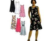 Misses Sleeveless Dress or Jumper 1990s Simplicity 7541 Sewing Pattern Full Figure Plus Size 6 thru 24 Bust 30 1/2 thru 46 UNCUT