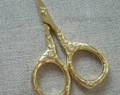 ELIZABETH small gold scissors for embroidery, knitting, cross stitch, crafts