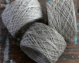 Linen yarn thread -- one ball - natural linen - 3, 5 or 6-ply