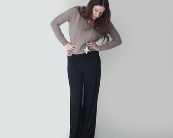Women's Pants • Wide Leg Palazzo • Petite and Tall Length Pant Bottoms • Loft 415 Clothing (No. 30)