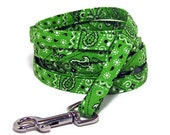 "XS Leash - Lime Green Bandana - 3/8"" wide - 4 or 6 Feet long for Cats and Small Dogs"