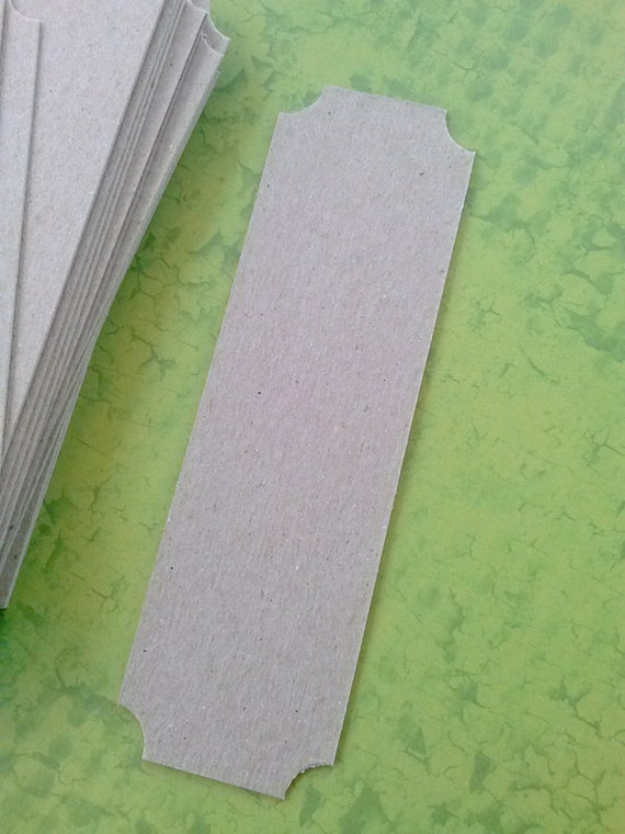 chipboard bookmark blanks with stubbed corners - set of 20