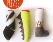 The Cougar Kit  / Zebra / Dragon / Severed Leg Catnip Toy / Handmade Cat Toy