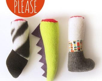The Cougar Kit  / Zebra / Dragon / Severed Leg Catnip Toy / Handmade Cat Toy
