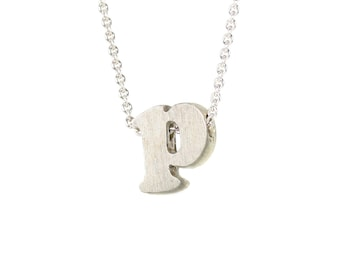 p - block letter initial necklace