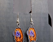 Yawnster yawning monster - Feeping Creatures acrylic earrings