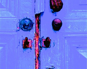 door photograph violet purple lilac abstract photograph door and locks travel, wall decor, decorative art