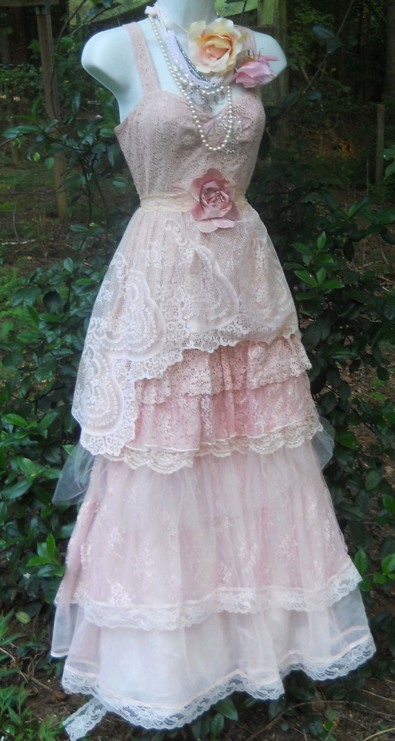 Lace tulle wedding dress etsy flower girl dresses for Etsy dresses for weddings
