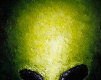 ALIEN 6x6 painting