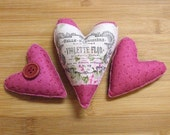 Pink Cottage Chic Valentines Day or  Mothers Day Heart Bowl Filler Ornament
