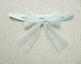 Promise silk bow garter