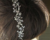 Wedding Headband Hair Vine Pearl Hairband Bridal Tiara Ivory Pearl headband pearl crystal silver wedding headpiece Bridal hairpiece
