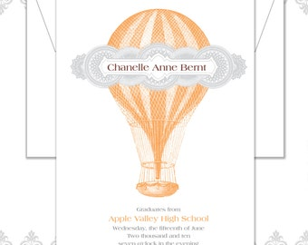 Hot Air Balloon Graduation Announcement
