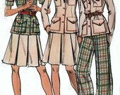 Vintage 70s Butterick 3582 Misses RETRO Jacket, Skirt and Pants Sewing Pattern Size 12 Uncut