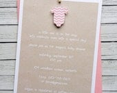 8 count Girls Baby Shower Invitation