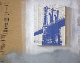 Brooklyn Bridge Print - BK Bridge Art - New York City Bridge Print - NYC Architecture Art