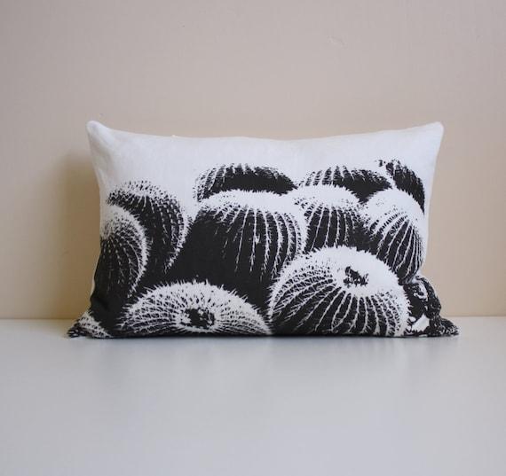 Barrel Cactus Pillow / Desert Modern Decor / Black by NestaHome