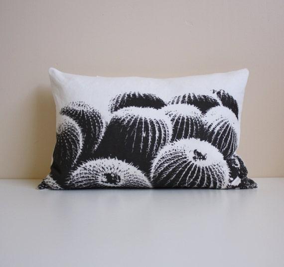 Modern Southwest Pillow : Barrel Cactus Pillow / Desert Modern Decor / Black by NestaHome