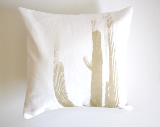 LAST CHANCE SALE - Desert Cactus Throw Pillow