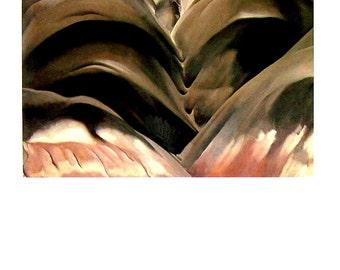 Black Place I - Georgia O'Keeffe Print - 1993 Vintage Book Page - 10 x 12