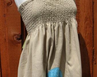Shirred Top Mini Dress/Top