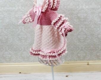 CROCHET PATTERN For Amelia Baby Dress & Bonnet  PDF 142 Digital Download