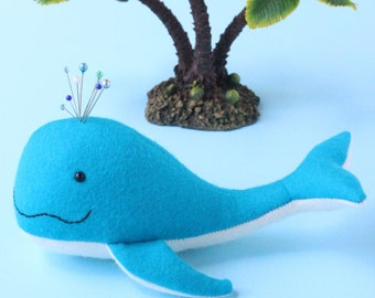 Pin whale pincushion: A PDF sewing pattern
