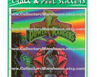Mighty Morphin Power Rangers Nameplates Stickers Labels Bookplates NIP