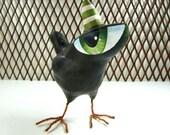 Paper Mache - Art Sculpture - Dawson - A Big Eyed Bird
