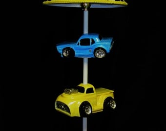 Car Lamp - Hot Rods - Race Cars- Boy's Room Lighting