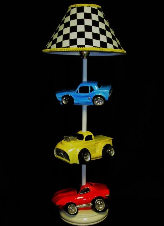 Car Lamp Hot Rods Race Cars Boy 39 S Room Lighting