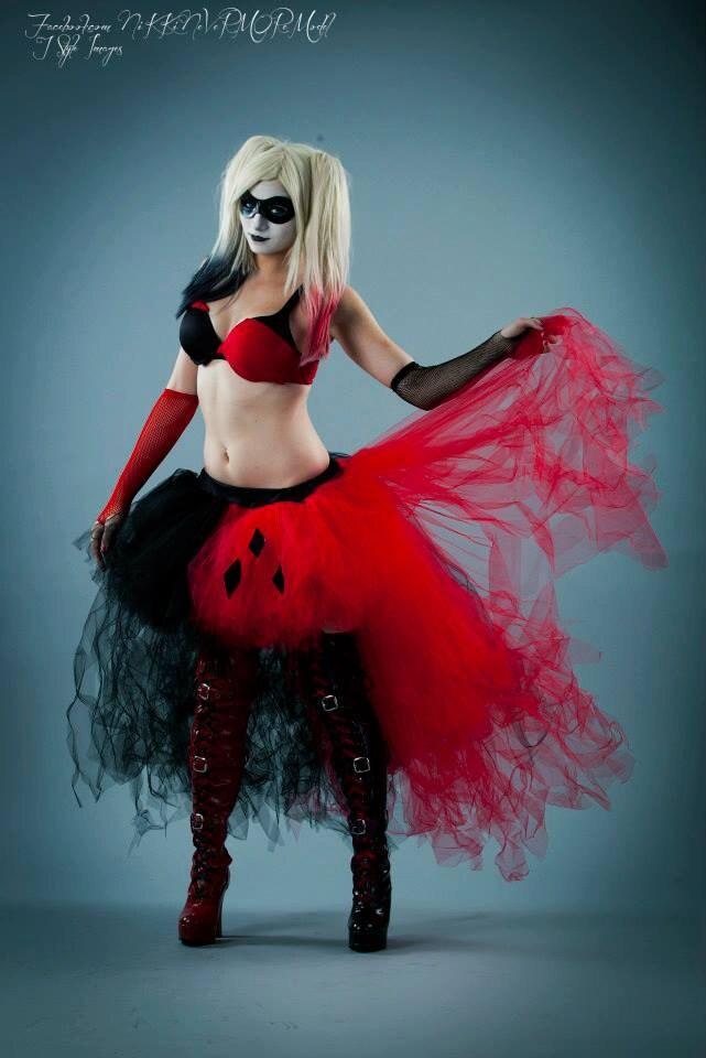 Harley Quinn Adult Tutu Tulle Skirt Wedding Formal Bustle