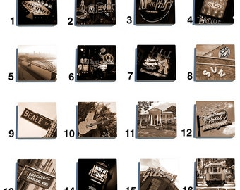 Memphis Stone Drink Coaster Set - Pick Any 4