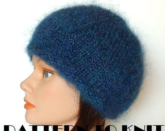 FREE KNITTING PATTERN MOHAIR BERET - VERY SIMPLE FREE KNITTING PATTERNS