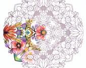 Articoli simili a giardino fiori libro da colorare per for Articoli x giardino