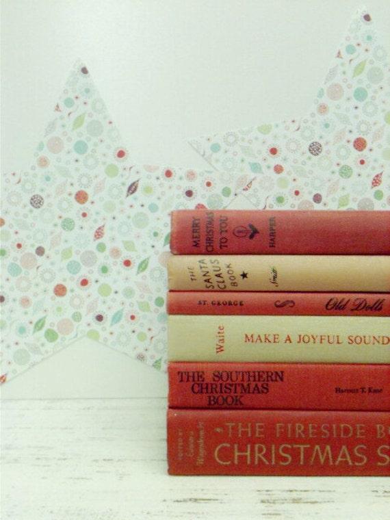 Christmas Wedding,Christmas Decor,Under 75 Dollars,Vintage Red,Christmas Book,Christmas Centerpiece,Christmas Gift,Photo Prop,Home Decor