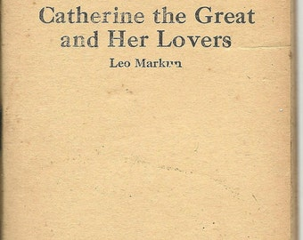 """Vintage Little Blue Book """"Catherine the Great and Her Lovers"""" by Leo Markun, Book No. 786"""