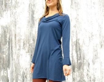 Birch Tunic ~ Long Sleeve Cowl Dress ~ Bamboo & Organic Cotton ~ Made to Order