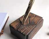 Pen holder wooden, upcycled wood Wedding Reclaimed wood