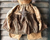 Waverly Witch EPATTERN...primitive halloween cloth doll craft digital download sewing pattern...PDF...1.99