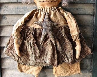Waverly Witch EPATTERN...primitive halloween cloth doll craft digital download sewing pattern...PDF...1.99