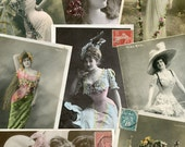 Victorian Actresses no.03 - 50 Digital Printable Postcard scans for scrapbooking collage art atc aceo cardmaking