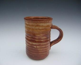 Handmade tan mug