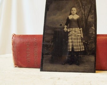Antique Tintype - Bon-ton - Girl with Earrings - c. 1880s