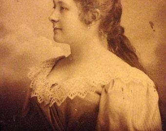 Beautiful Victorian Woman - Large Photograph