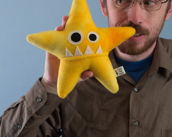 Small Starfish Fleece Plush - Yellow Tie-Dye