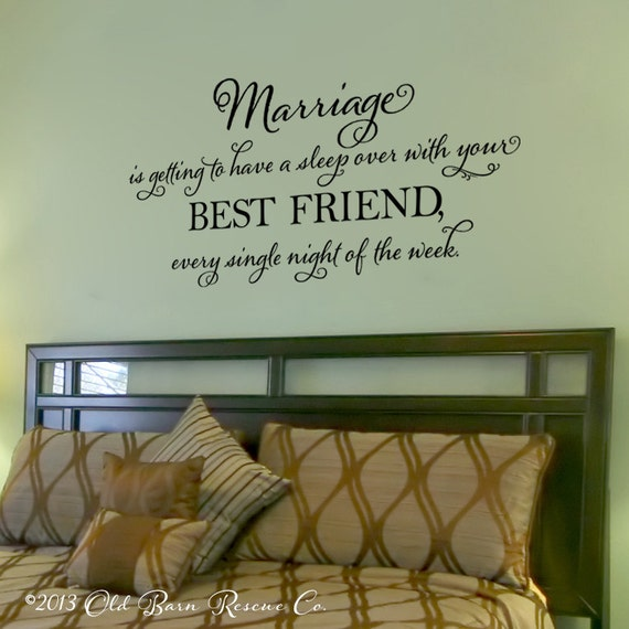 Marriage Is Getting To Have A Sleep Over Vinyl Wall Decal