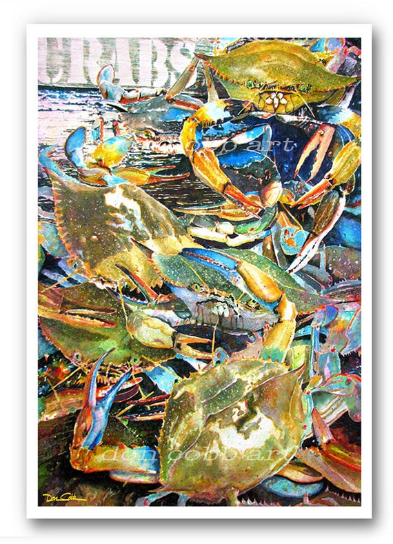Items Similar To Maryland Crabs 13x19 Quot Quot Live Blue Crabs