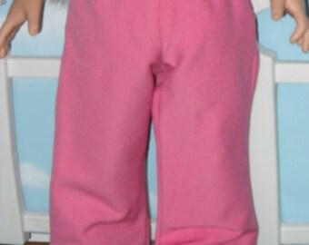 "American Girl 18"" Doll Pants Handmade Pink"