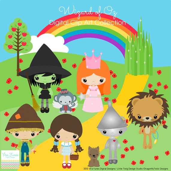 Items similar to Wizard of Oz Digital Clipart, clip art ...
